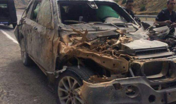 Siirt'te Kaymakam'ın Aracının Geçişi Sırasında Patlama