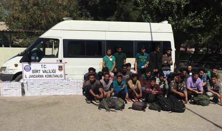 Siirt'te 33 Yabancı Uyruklu Yakalandı