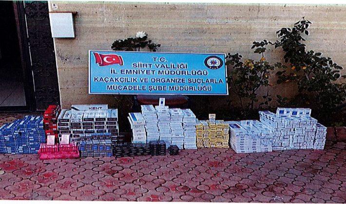 2.485 adet Gümrük kaçağı sigara Yakalandı