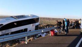 İstanbul'dan Siirt'te Gelen Yolcu Otobüsünde Kaza 15 Yaralı
