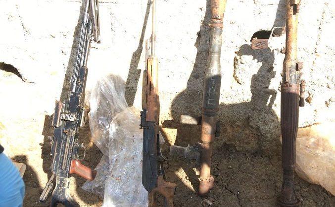 PKK/KCK TERÖR ÖRGÜTÜNE AİT SİLAHLAR ELE GEÇİRİLDİ.