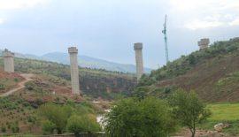 Yeni Zarova Köprüsü Yapımı Sürüyor