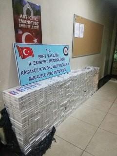 8.500 PAKET KAÇAK SİGARA ELE GEÇİRİLDİ.
