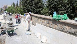 Mezarlık Duvarlarında Yenileme Çalışması