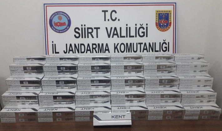 1.750 paket Kent Marka Bandrolsüz (Kaçak) Sigara Ele Geçirilmiştir