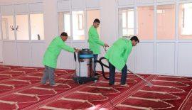 Cami Temizlik Ekibi Çalışmalarını Sürdürüyor