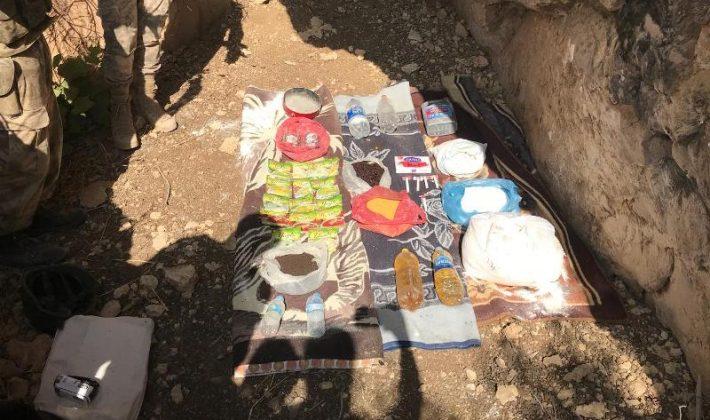 TERÖR ÖRGÜTÜ PKK'YA YÖNELİK OPERASYONLARDA YAŞAM MALZEMELERİ ERLE GEÇİRİLDİ