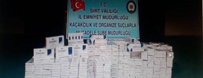 634 Karton (6340 Paket) Kaçak Sigaraya Ele Geçirildi