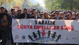 """Siirt'te """"Engelliler Haftası"""" yürüyüşü Yapıldı"""