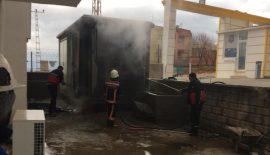 Siirt'te Trafoda Çıkan Yangın Site Sakinlerini Korkuttu