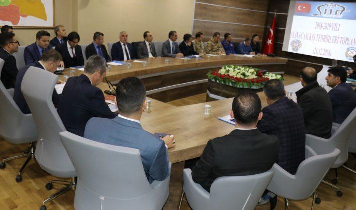 SİİRT'TE KIŞ TEDBİRLERİ KOORDİNASYON TOPLANTISI YAPILDI