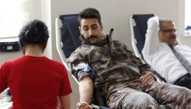 Siirt Emniyet Müdürlüğü Personellerinden Kan Bağışı