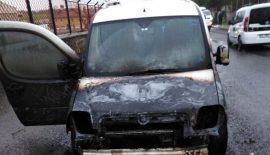 Siirt'te Seyir Halindeki Araç Alev Aldı