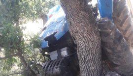 Siirt'te Traktör Devrildi 4 Yaralı