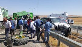Siirt'te Meydana Gelen Trafik Kazasında  5 Kişi Yaralandı