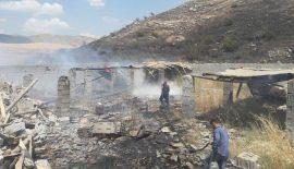 Siirt'te Arazi Ve Çiftlikte Yangın