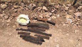 Bölücü Terör Örgütü Mensuplarına Ait Mühimmatlar Ele Geçirildi