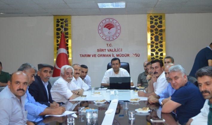 Merkez İlçe Köy Muhtarları İle Tarım Sektörü Değerlendirme Ve Bilgilendirme Toplantısı Yapıldı.