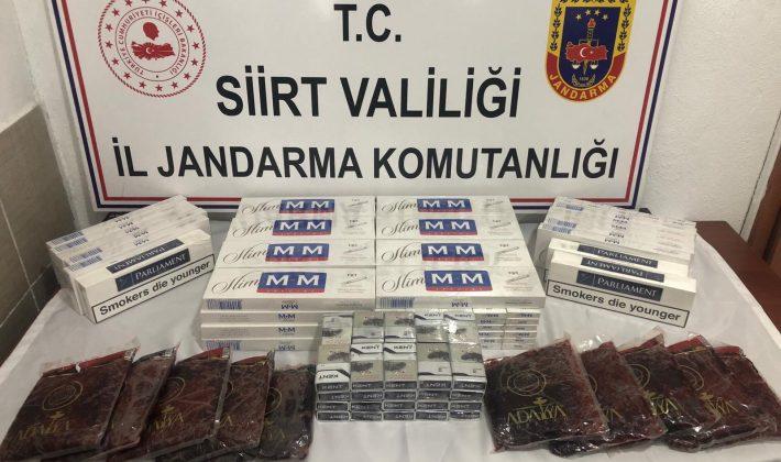 510 Paket Kaçak Sigara 10 Kg. Kaçak Nargile Tütünü Ele Geçirildi