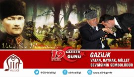 "VALİ ALİ FUAT ATİK'İN  ""GAZİLER GÜNÜ"" KUTLAMA MESAJI"