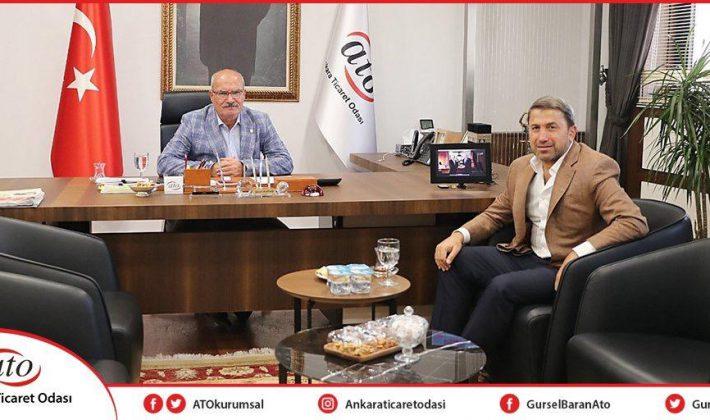 Siirt TSO Başkanı Güven Kuzu, ATO Başkanı Gürsel Baran'ı Ziyaret