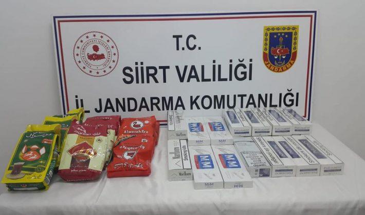 210 Paket Kaçak Sigara, 11 Paket Kaçak Çay Ele Geçirilmiştir