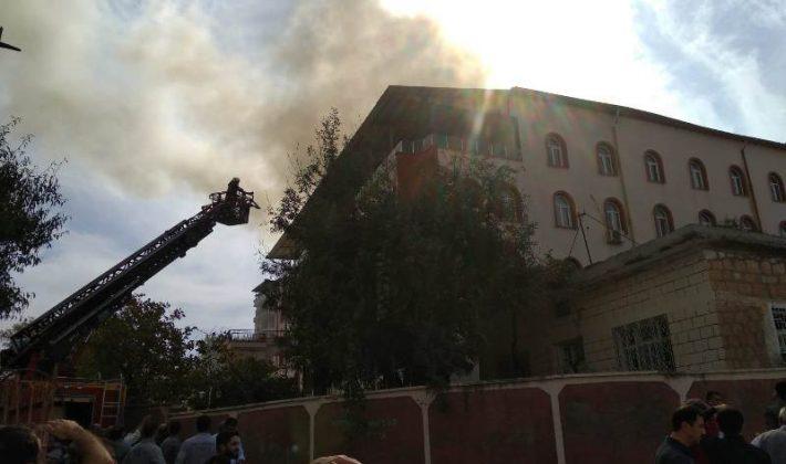 Tillo'da Kuran Kursu Binasında Yangın