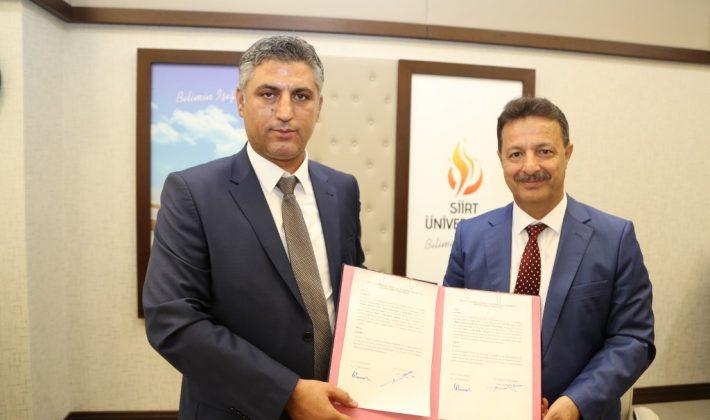 """Siirt İl Tarım ve Orman Müdürlüğü ve Siirt Üniversitesi Arasında """"Tarım ve Hayvancılık Alanında"""" İşbirliği Protokolü İmzalandı."""