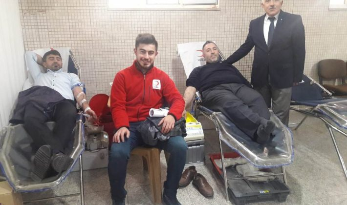 Siirt Ensar Camii'nde Kan Bağışı Yapıldı